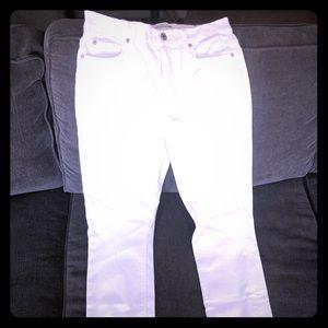 High waisted White skinny jeans. NWT